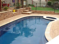 Shaped Pool Copping - click for larger image