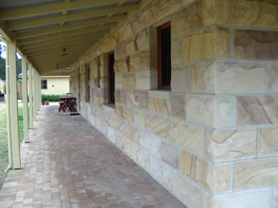 Rocksolid sandstone supply cut finished sandstone for heritage restorations, cladding, retaining walls, feature walls and landscape design